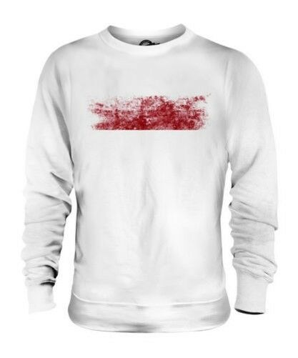 INDONESIA DISTRESSED FLAG UNISEX SWEATER TOP INDONESIAN SHIRT FOOTBALL JERSEY