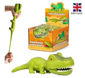 STRETCHY DINOSAURS Kids Birthday Party Loot Bag Favors Toys Stocking Fillers UK