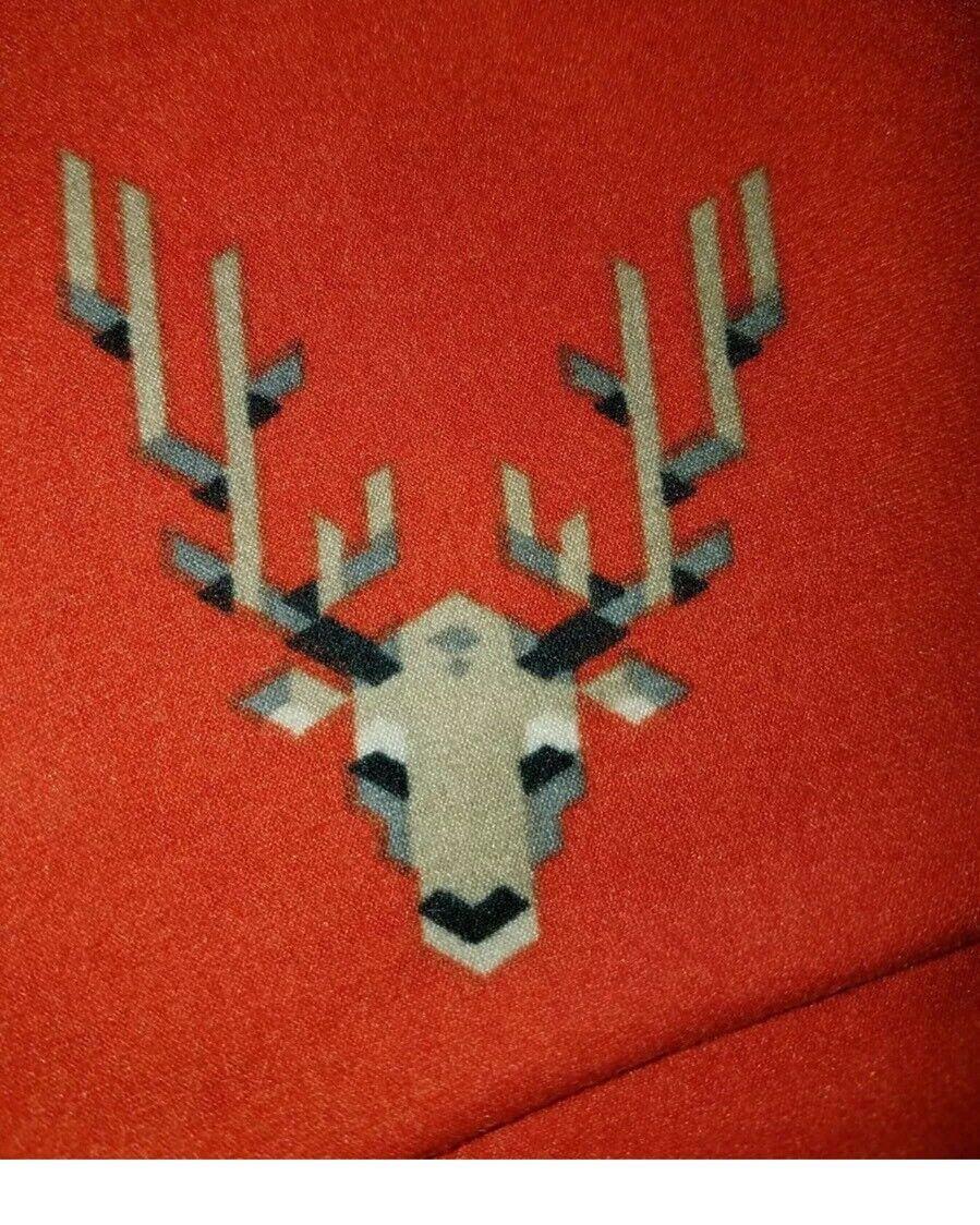 New LuLaRoe LLR OS Leggings Red Holiday Deer Reindeer Heads Animal One Size