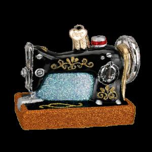 Old-World-Christmas-SEWING-MACHINE-32103-N-Glass-Ornament-w-OWC-Box