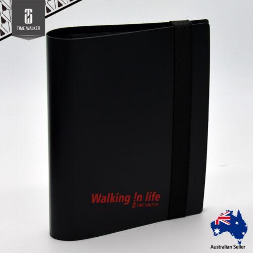 Black Timewalker Binder Collector Card Storage Album Folder 20 x 4-Pocket Pages