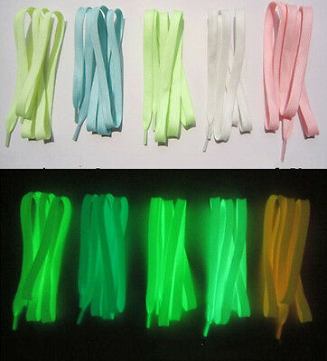 1m One pair Fashion Fluorescence Noctilucent Shoelaces Shoestring Glow Stick