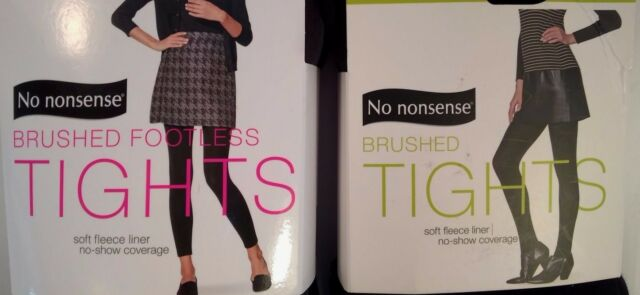 ac30945dae5f5 NWT 2 Pair *No Nonsense Brushed Lined Tights- Footless Tights Size Medium