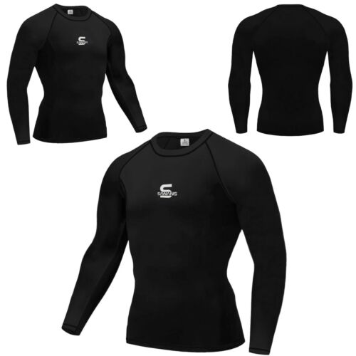 X Mens Compression Armour Base Layer Top Long Sleeve Thermal Gym Sports Shirt F