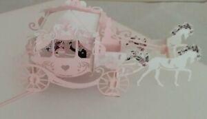 Pop Up Greeting Card Wedding Wedding Carriage PopUp folding Card Colour Choice