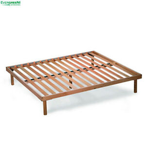 Image Is Loading Beechwood Slatted Bed Base Fixed Orange King 5ft