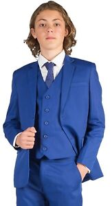 Boys-Suits-Boys-Costume-Bleu-Pageboy-Prom-Mariage-Costume-Party-Formal-5-Piece-Costume