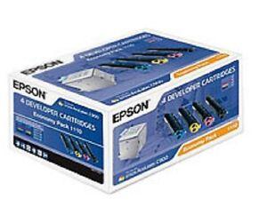 4-Original-Cartouche-D-039-encre-Epson-Aculaser-C1100-C1100N-CX11N-S050190-S050187