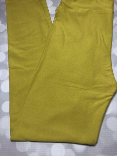LuLaRoe L//XL Child Kids Solid Color Leggings LLR BNWOT High Strung Yellow