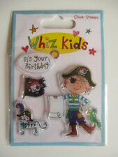 Whiz Kids Clear Stamps - Pirate , It's your Birthday , flag , cat