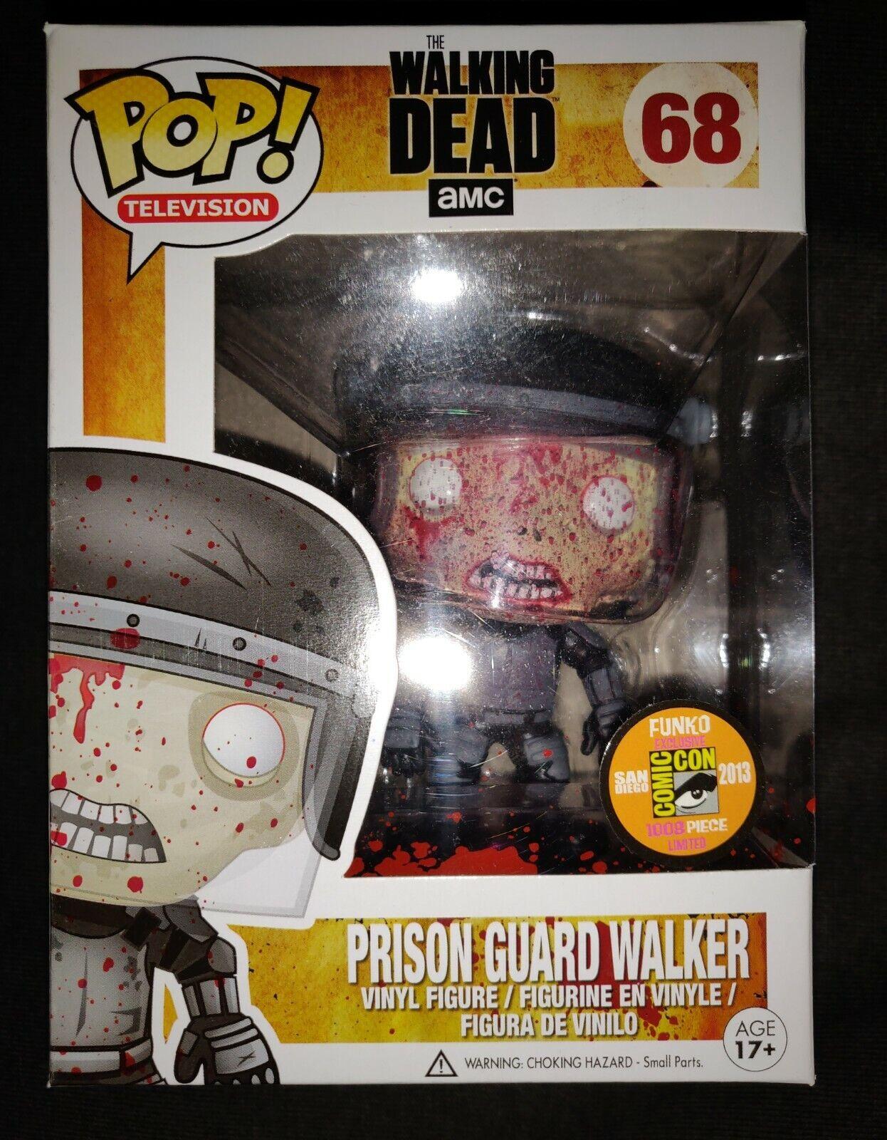 SDCC Bloody Prison Guard Walker Walking Dead AMC Funko Pop Vinyl Figure RARE  68