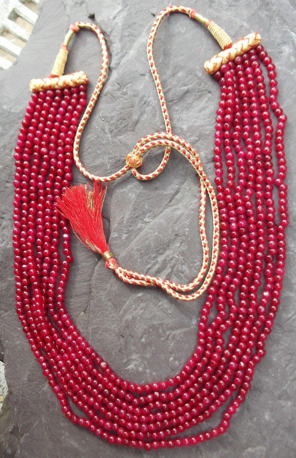 Ruby Autentico rossoondo Perline 4-5mm 7 la la la parte 20  Collana E405 09 634f62