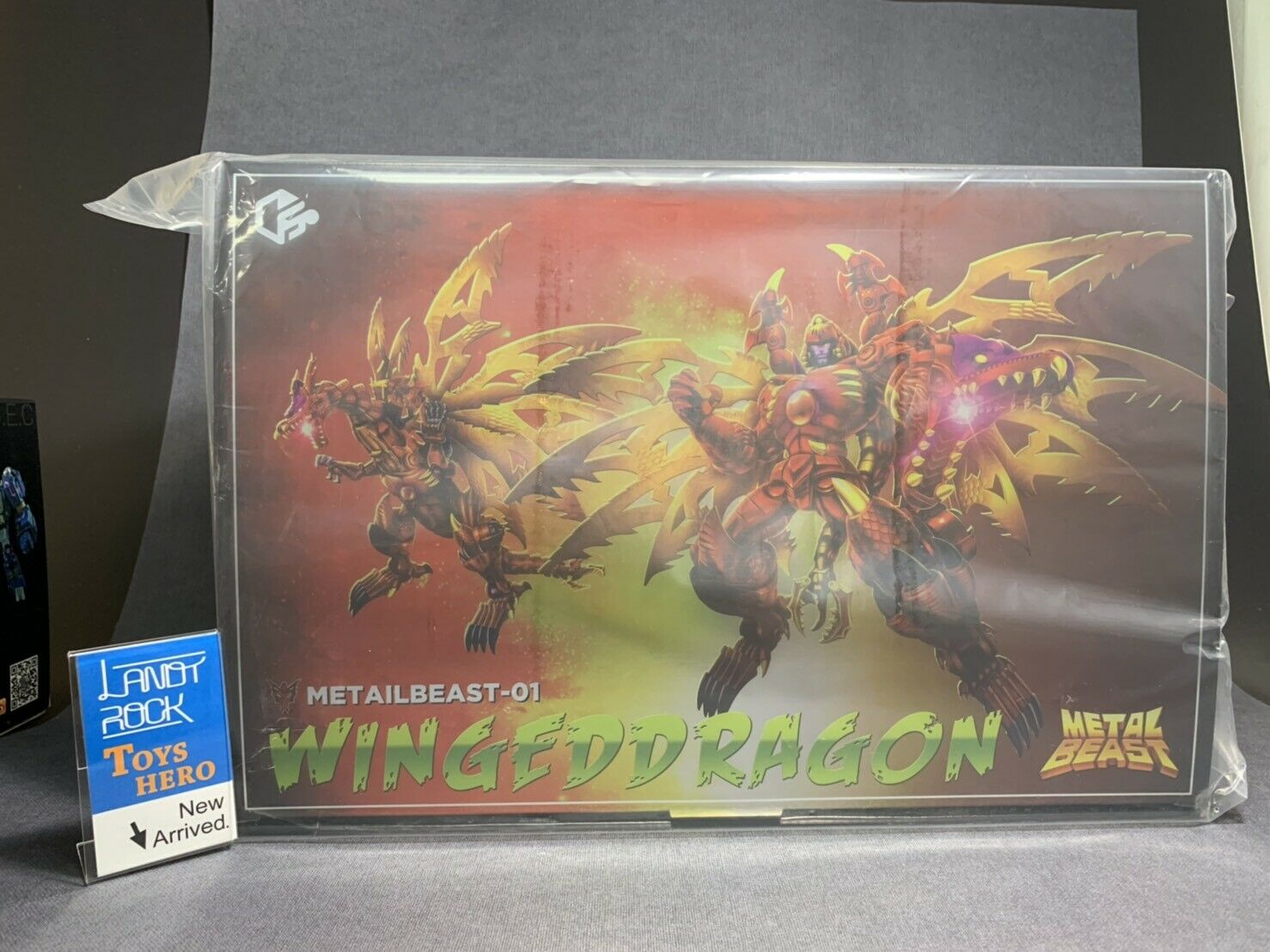 [ToysHero] In Hand Transformers Jiangxing MB-01 Red scale Dragon Wing Red Gragon