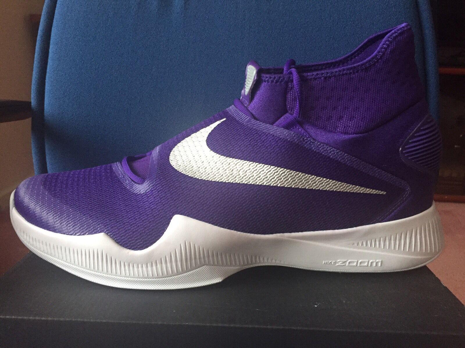 Nike Zoom Hyperrev 2016 Kobe Lakers Purple 18 Grape White Mens Basketball Shoes
