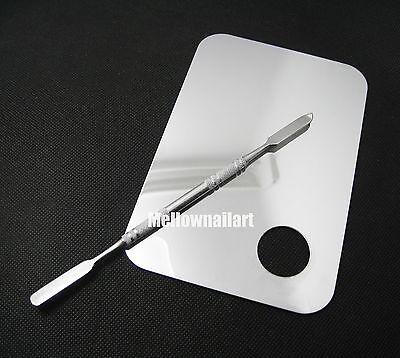 Nail Art UV Gel Polish Palette Mixing Toner Tools Stainless Steel Makeup Tools