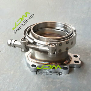 For-T25-T28-GT25-GT28-Turbo-Downpipe-Flange-Adaptor-8-Bolt-to-3-0-034-V-Band-Clamp