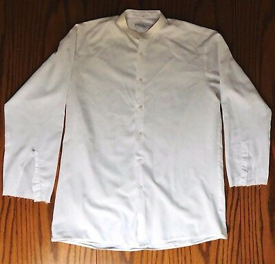 Vintage boys tunic shirt size 14 Eton school uniform 1960s TATTY costume no cuff