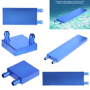 160x40x12mm Aluminum Water Cooling Block for PC CPU Graphics Radiator Heatsink