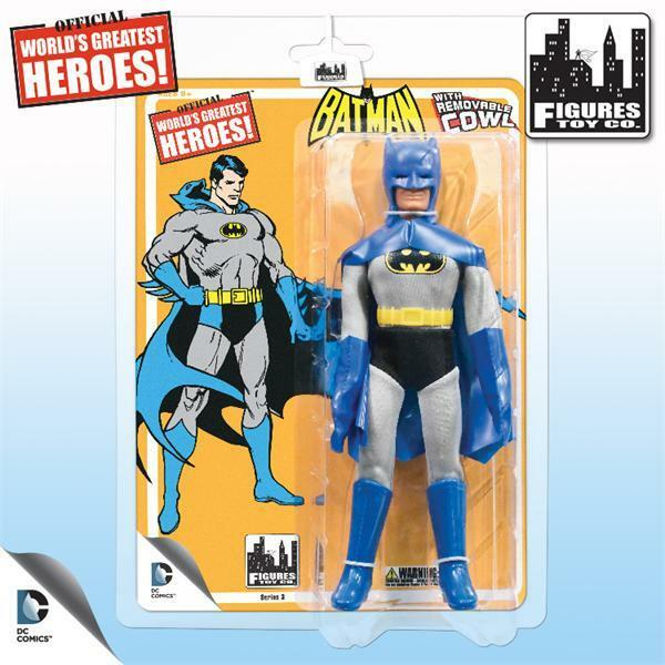 El mejor héroe del mundo, Batman de la serie de los antiguos mega 3, con capullos desmontables.