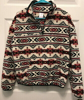 NEW No Boundaries Juniors/' Super Soft Fuzzy Hooded Fleece Jacket Size M 7-9