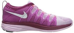 size 40 63a36 e9aca Image is loading Womens-Nike-Flyknit-Lunar2-Pink-Trainers-620658-615