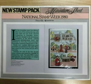 SP36-1980-Australia-Post-Poster-New-Stamp-Pack-National-Stamp-Week-Minisheet