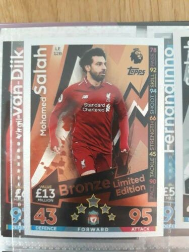 Match Attax Extra 2018//19 Limited Edition 100 Club HT Heroes Man of the Match
