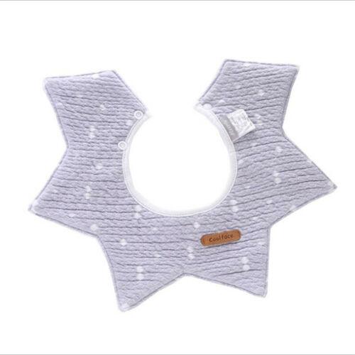 Baby Toddler 360° Rotation Bibs Food Feeding Saliva Towel Dribble Cotton Bib ONE