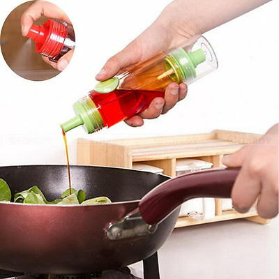 2 In 1 Oil Soy Sauce Vinegar Condiment Bottle Spray Dispenser Kitchen BBQ Cruet
