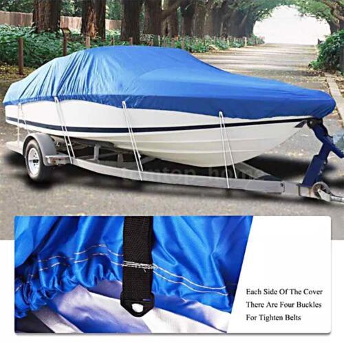 Silver Waterproof Trailerable Fish Ski Boat Cover 210D fits V-hull Tri-hull J2M3
