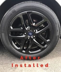 2013-2016-Ford-FUSION-17-034-BLACK-Wheel-Skins-Hubcaps-Covers-Alloy-Wheels-SET