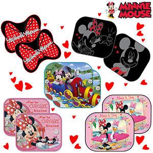 2x-Disney-Minnie-Mouse-Sunshade-Baby-Girl-Kids-Children-Car-Window-Sun-Shades