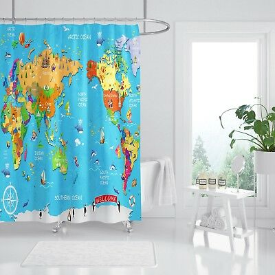 Shower Curtains Rapture 3d Tier Karte Kind 9 Duschvorhang Wasserdicht Faser Bad Daheim Windows Toilette