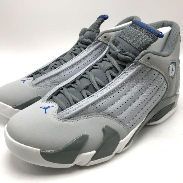 on sale 00e00 4f04f Nike Air Jordan 14 XIV Retro Wolf Grey Sport Blue Men 487471 ...