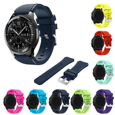 22mm Vogue Sport Silicone Bracelet Soft Strap Band For Samsung Gear S3 Frontier