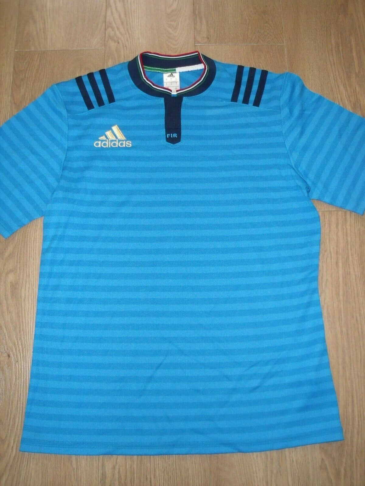 Fir f. I.R Italien Italien Italien Italia Adidas Rugby Trikot Hemd Blau Gestreift HERREN L Neu b71700