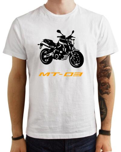 T-Shirt Yamaha MT 03 uomo Maglia moto nera cotone 100/% maglietta