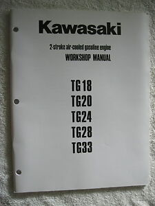 kawasaki tg18 tg20 tg24 tg28 tg33 gas engine workshop service rh ebay com User Manual PDF Instruction Manual