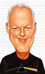David Gilmour Caricature Pink Floyd The Wall Sticker or Magnet