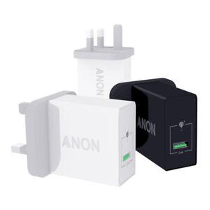 Genuine ANON Secteur Rapide Chargeur Plug USB UK pour ZTE NUBIA X Z18 AXON 9 PRO
