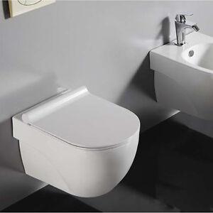 modernes wand wc h nge wc inkl extra d nnem duroplast wc sitz 2188 ebay. Black Bedroom Furniture Sets. Home Design Ideas