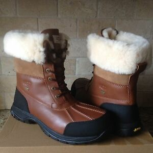 a1a50a26ba1 Details about UGG Butte Worchester Waterproof Leather Fur Winter Snow Boots  Size US 12 Mens