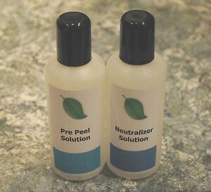 Pre Peel and Neutralizer solution – Enhances the peeling process – 2 x 100ml