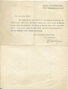 RICHARD-STRAUSS-orig-Autograph-Brief-Berlin-1910-typed-letter-signed