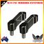 Black CNC 10mm Mirror Extension Riser Adapter MT-09 MT-07 Fazer FZ-09 V-max 1700
