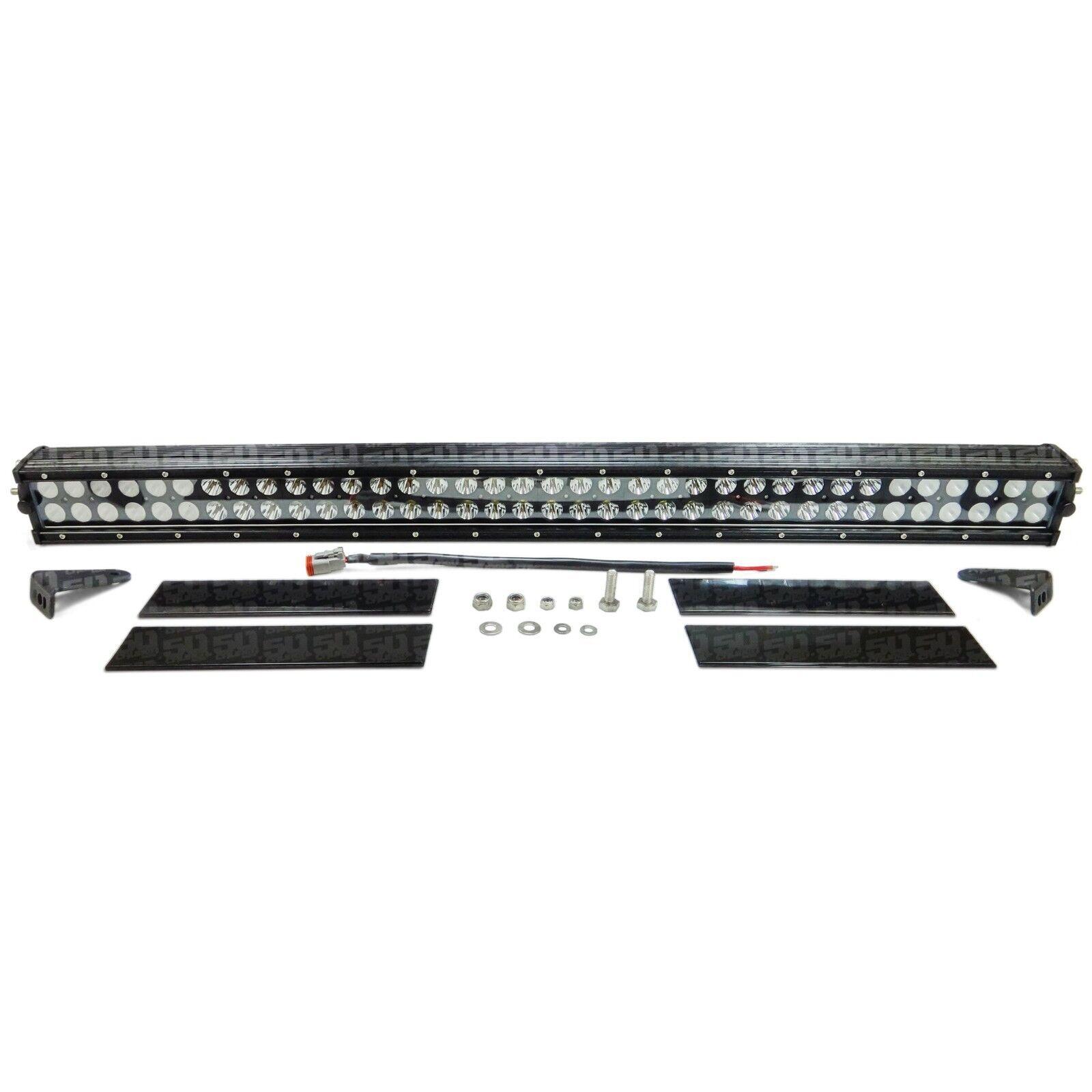 "Elite Series 50 Caliber Racing 34"" Spot LED Light Bar Adjustable Mount Bracket"
