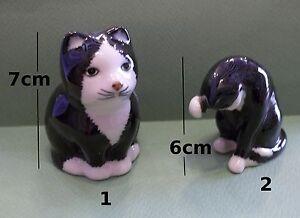 Chats En Céramique,collection,décoration,cats, Katten,poezen,poes,chat, (p-s2) Qjactprm-07235920-670009741