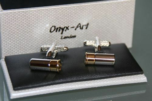 Novelty Mens Cufflinks Cartridge Design *New* Gift
