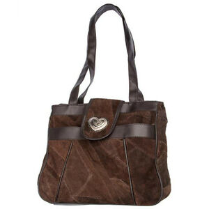 Genuine-Leather-amp-Suede-Handbag-with-3-Compartments-amp-Dual-Shoulder-Straps