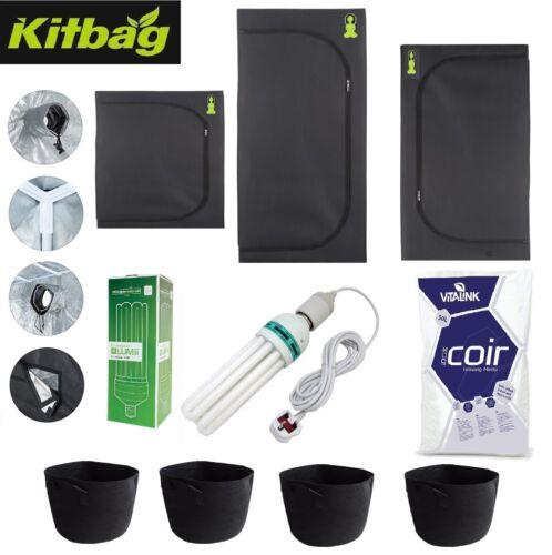 Budda Room Grow Tent Kit Complete Hydroponic Small Canna CFL Light Pots Soil